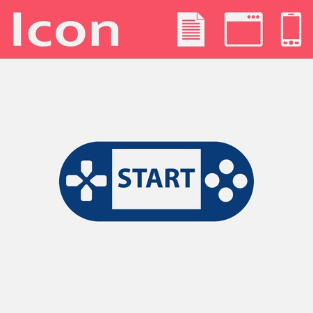game console: Handheld game console flat icon
