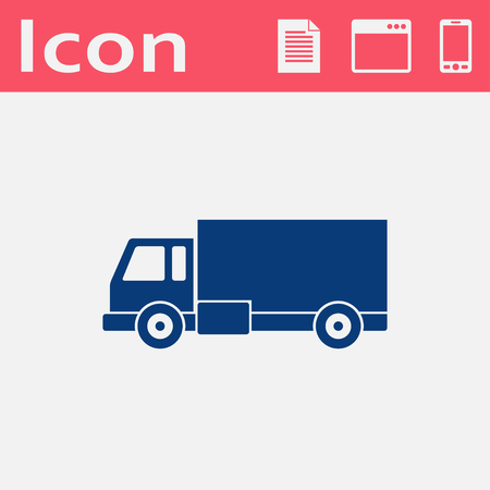 delivery truck: delivery truck flat icon Illustration