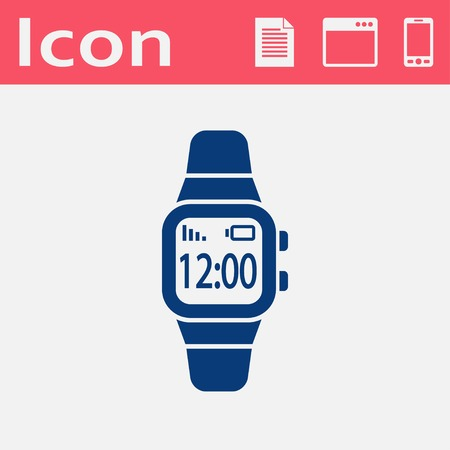 smart: Smart watch flat icon