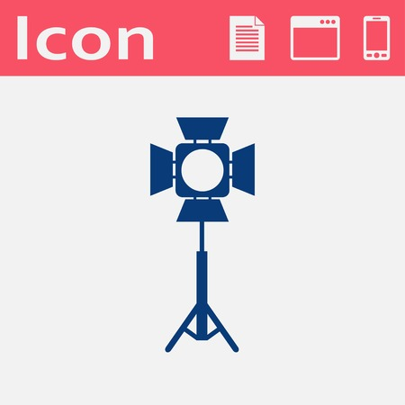 spotlight: Spotlight vector flat icon