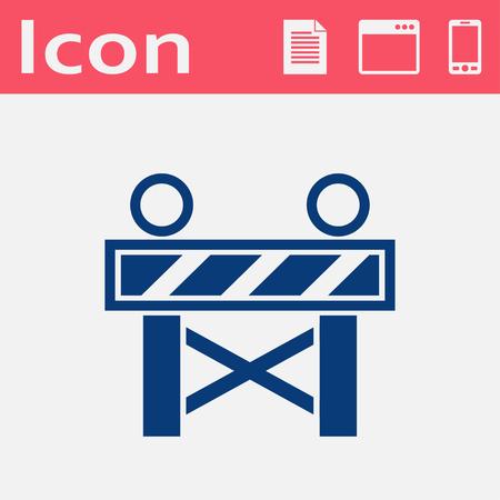 roadblock: Construction Roadblock flat vector icon