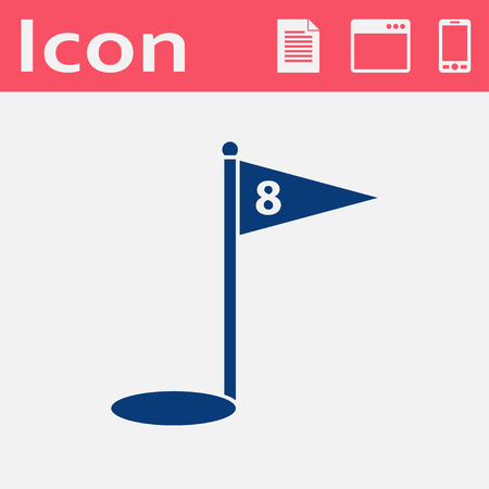 hole: Hole Course Golf flat vector icon