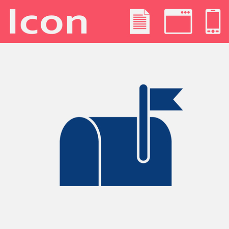 Mail box flat vector icon
