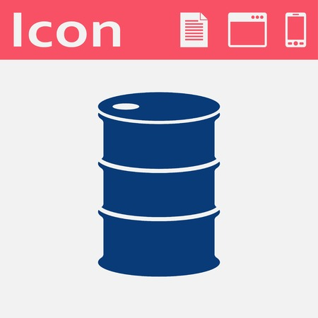 lubricant: Vector flat icon barrels of oil