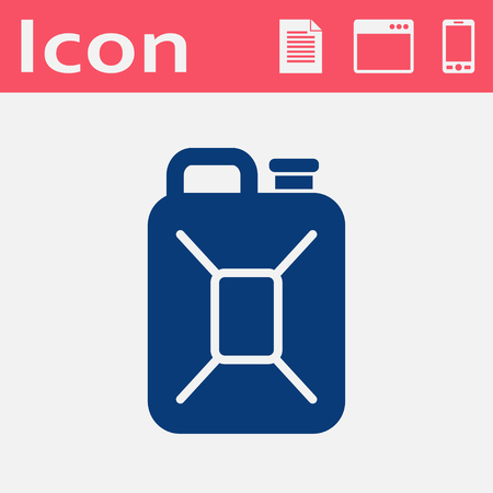 canister: fuel canister flat vector icon Illustration
