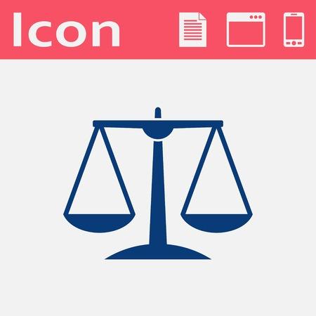 justice scale: White Justice scale icon