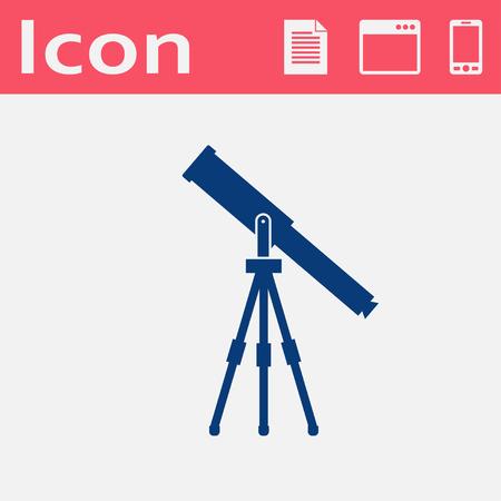 ocular: Telescope web icon, vector illustration