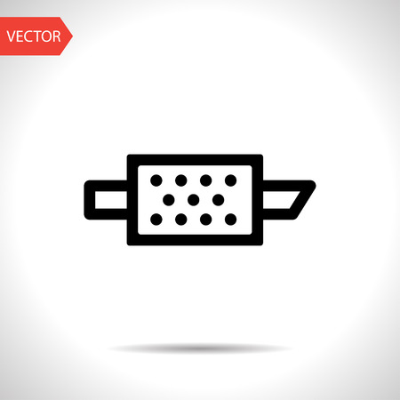 particulate: Particulate engine filter warning vector hmi dashboard flat icon Illustration