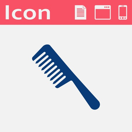 comb hair: hair comb vector icon