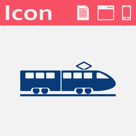 locomotion: speed train vector icon