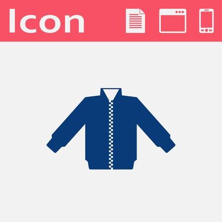 warmed: casual jacket vector icon