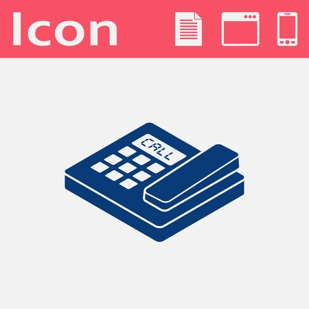 conferencing: office phone isometric 3d icon Illustration
