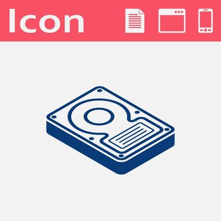 hard disk drive: hard disk drive storage isometric 3d icon