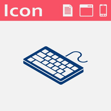 pc: pc keyboard isometric 3d icon Illustration