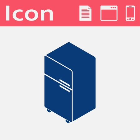 fridge: fridge isometric 3d icon