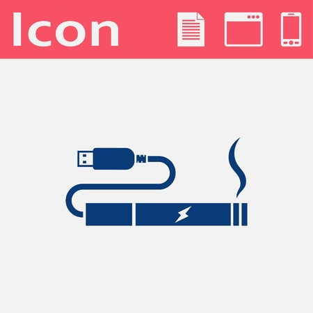 vaporizer: electronic cigarettes charge from pc port icon Illustration