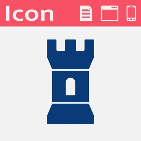 loophole: flat icon of tower