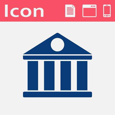Blueprint icon of court building royalty free cliparts vectors and icon of court building vector malvernweather Images