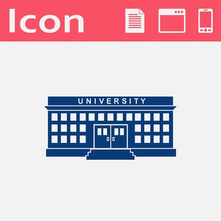 post secondary schools: Creative concept of a university building vector icon.