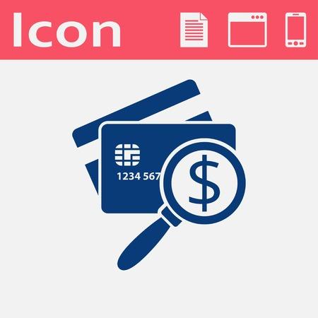 Icône de carte de crédit à balayage. Illustration vectorielle de l'inspection de l'argent Banque d'images - 75257188
