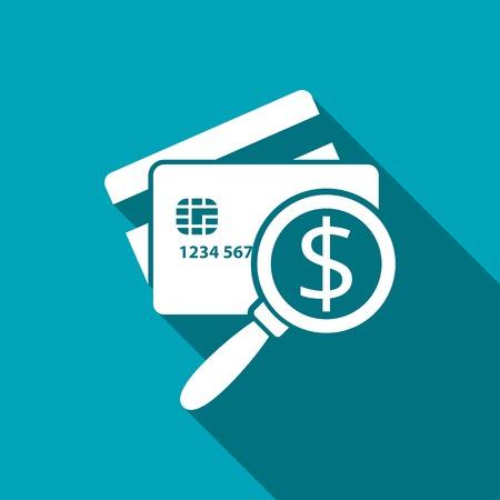 Icône de carte de crédit à balayage. Illustration vectorielle de l'inspection de l'argent Banque d'images - 75234915