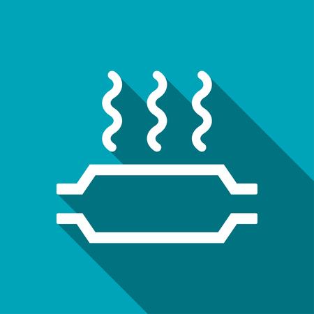 neutralizer: Catalytic converter overheat warning vector hmi dashboard flat icon Illustration