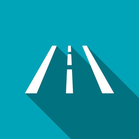 Highway road lanes vector hmi dashboard flat icon