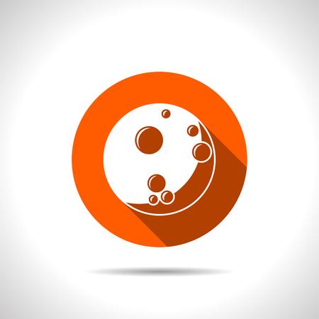Moon flat icon. Vector illustration. Illustration