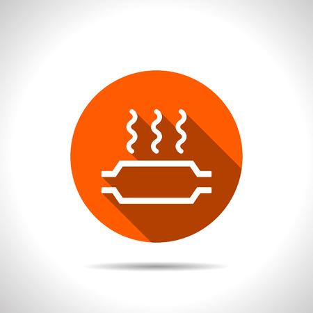 neutralizer: Catalytic converter overheat warning vector hmi dashboard flat icon. Illustration