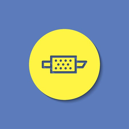 air filter: Particulate engine filter warning vector hmi dashboard flat icon Illustration