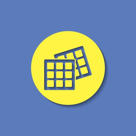 knock: Vector belgian waffles icon. Food icon. Eps10