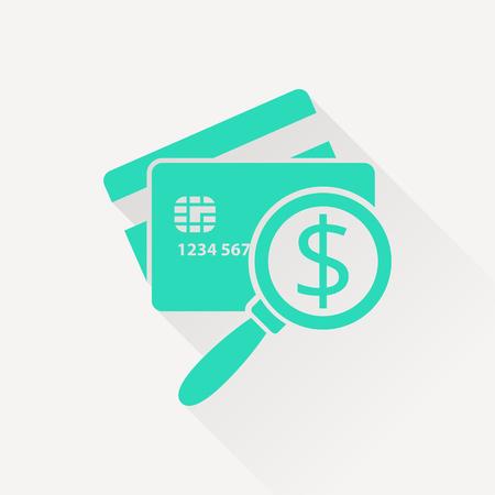 Icône de carte de crédit à balayage. Illustration vectorielle de l'inspection de l'argent Banque d'images - 75815840