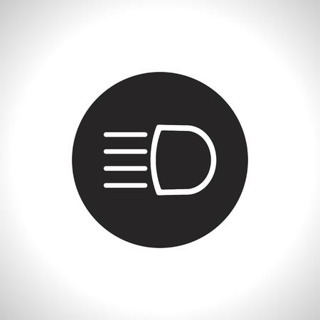 dipped: Headlight high beam symbol vector hmi dashboard flat icon