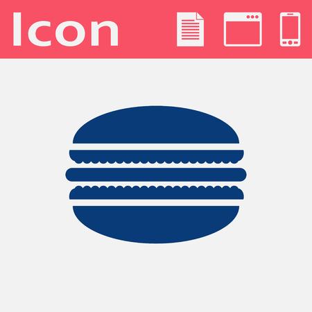 ベクトル マカロン アイコン。食品アイコン。Eps10