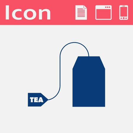 Vector tea bag icon. Food icon. Eps10 Иллюстрация