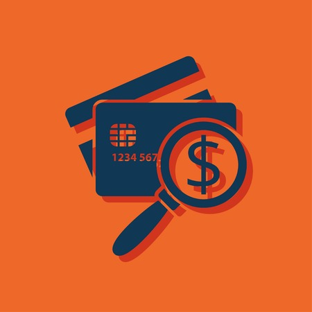 Icône de carte de crédit à balayage. Illustration vectorielle de l'inspection de l'argent Banque d'images - 78365055