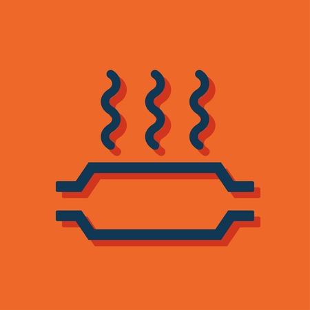 baffle: Catalytic converter overheat warning vector hmi dashboard flat icon Illustration