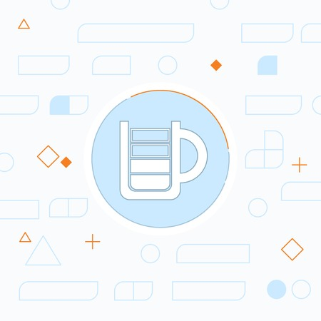 coffee beans: Energy drink cup flat icon. Vector illustration