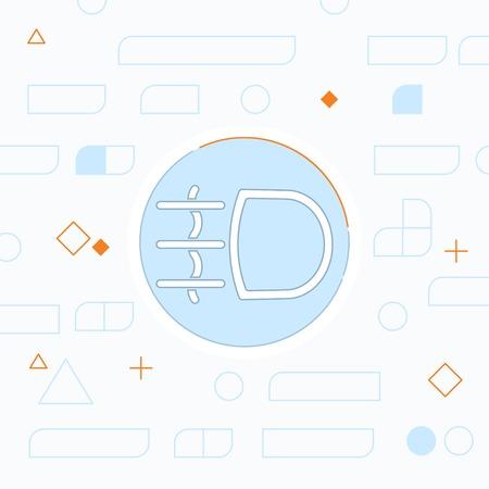Fog light symbol vector hmi dashboard flat icon Illustration