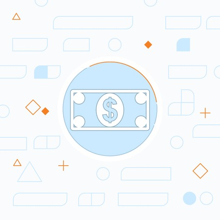 pack of dollars: Cash paper money vector flat icon