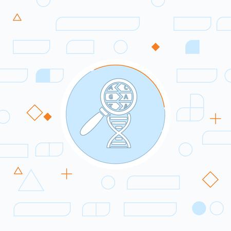 DNA helix flat icon. Molecular biology science vector illustration