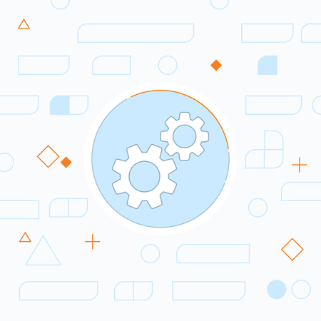 gearwheel: Two gears vector icon