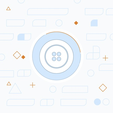 Sewing button vector icon 向量圖像