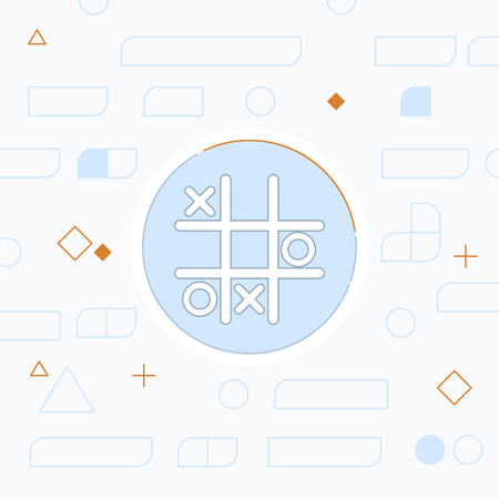 Tic tac toe game vector icon Çizim