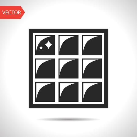 Floor or wall tiles illustration. Clean household vector icon