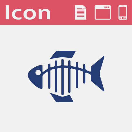 Vector icon of fishbone Illustration