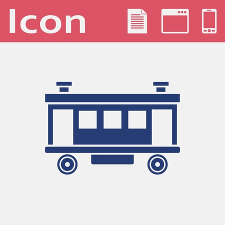 Railroad Car vector icon
