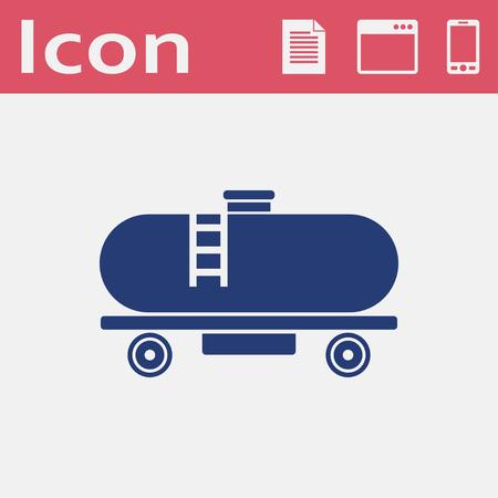 Railroad tank vector icon