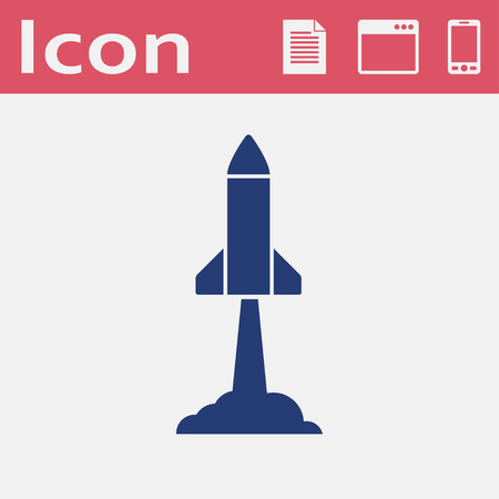 Starting rocket vector icon