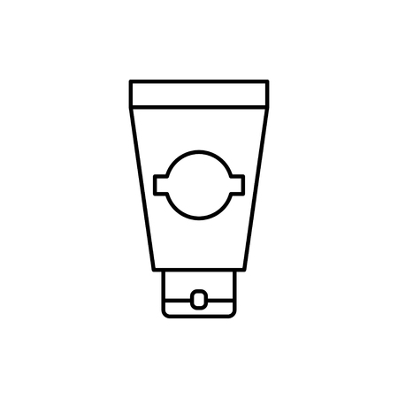 vector outline icon of cream tube